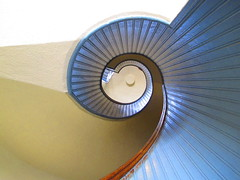 IMG_6300a (MaysKC5) Tags: blue light detail view up spiral staircase 19thcentury home look lighthouse cabrillonationalmonument pointloma california inside circle color interior data design architecture