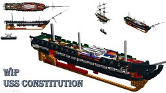 WIP - USS Constitution (ORION_brick) Tags: lego uss consitution ship model old iron ironsides sides sailing boat sail war warship