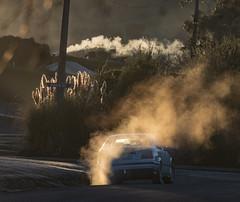 Steamy Beach Street (Ian@NZFlickr) Tags: winter frost steam smoke waikouaiti dunedin nz sunrise frosty car pollution