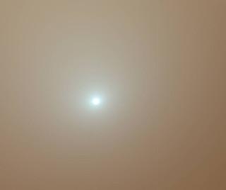 Sun During Dust Storm