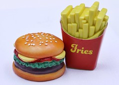 Burger and Fries (Helen Orozco) Tags: macromondays erasers hmm burgerfries rubber
