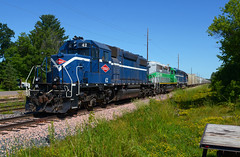 PGR 42- Waiting for the day to start (Khang Lu) Tags: northern pgr progressive rail new auburn wisconsin emd sd382 42 sand train railroad locomotive engine mns cnw citx wi