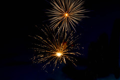 Double Blast (http://fineartamerica.com/profiles/robert-bales.ht) Tags: 2018 fireworkworkemmettdays projects toupload fireworks celebration 4thofjuly red white blue explosion night black sky explosivepyrotechni fireworksshow noise light smoke floatingmaterials flames sparks orange yellow green purple silver newyears holiday event year firework fourth golden party pyrotechnics celebrate burst color festival exploding display abstract anniversary idado emmett gemcounty firecracker crowds robertbales