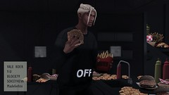 Cheat Day V4 (Hodari Hathor) Tags: secondlife sl slblogger slavi food loft condo burger fries frenchfries chips ubran urbanfashion urbanwear dope kitchen model malemodel mensfashion menswear photographer photoshop photography penthouse mcdonalds