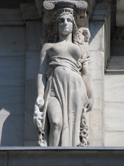 Mysterious Woman Dame Summer Caryatid NYC 5408 (Brechtbug) Tags: mysterious woman dame summer caryatid stone ladies courthouse roof statues across from madison square park new york city atlantid 2018 nyc 07152018 art architecture gargoyle gargoyles statue sculpture sculptures facade figures column columns court house law government building lady women figure form far east buildings season seasons fall