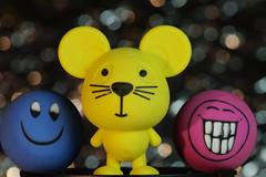 be happy (Elisabeth (off for a while)) Tags: macromondays erasers radiergummi 20180716 macro bokeh sigma toys office sigmasdquattro sigma105mm