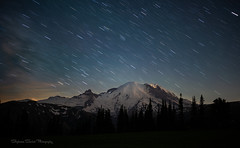 Her Majesty (SeattleEmpress--on and off for a bit) Tags: hermajesty mrnp milkyway mtrainier nationalpark pnw rainier airglow findyourpark mountains nightglow nightphotography seattleempress stars startrails stephaniesinclairphotography zeiss
