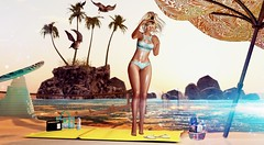 in the Sun (Varosh Santanamiguel) Tags: ebento event exclusive hunt gift promo jr wolf jrwolf jrwolfcreations gos gardenofshadows whitchcraft cnz madras blackbantam gaeg maitreya bento mesh new freebie {anc} india mi gacha summer beach bikini areiyon vsm