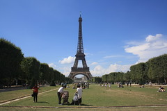 The Eiffel Tower (lazy south's travels) Tags: paris france french eiffel tower park tourist tourism summer man woman people candid touris