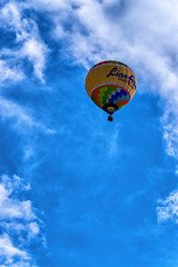 Alternate for 198:365 - Big Sky (LostOne1000) Tags: photography color nature iowa weather clouds locations marion scenery linncounty hotairballoon blue sky unitedstates airvehicles cloud transportation