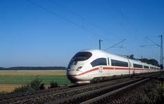 403 028  bei Ulm  07.09.04 (w. + h. brutzer) Tags: ulm eisenbahn eisenbahnen train trains deutschland germany ice railway zug db 403 webru analog nikon triebzug triebzüge