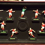 Limited Edition Cast Metal and Hand Painted set of Manchester United players that won the 1968 European Cup at Wembley by defeating Benfica 4-1 after extra time. thumbnail