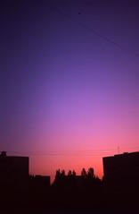 (trom.pom) Tags: 35mm analog sunset skyporn kiev4a kyiv ukraine київ akademmistechko suburb velvia50 nightsky