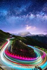 夏夜 (Benzyu) Tags: 昆陽 合歡山 台14甲線 昆陽之眼 銀河 星空 夜景 車軌 u型彎道 雲海 風景 山岳 樹木