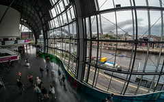In and around the Sage Gateshead. . . (CWhatPhotos) Tags: cwhatphotos photographs photograph pics pictures pic picture image images foto fotos photography artistic that have which contain newcastle upon tyne gateshead north east england uk olympus micro four thirds camera 43 penf pen wear inside outside views wide angle windows art samyang fisheye fish eye prime 75mm manual lens thesage sage