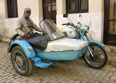 CUBA La Habana Taxi (stega60) Tags: cuba lahabana taxi calle habanavieja motorcyclewithsidecar motorcycle motocicleta azul blue stega60