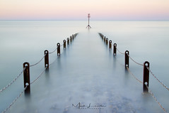 s i l e n c e . . . (Mark Leader) Tags: hove eastsussex brighton jetty seadefence chains posts seascape sea water ocean englishchannel sky pastel colours subdued serene peaceful tranquil