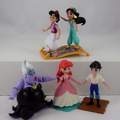 Ariel and Friends and Magic Carpet Ride Action Figure Sets - Hasbro Disney Princess Comics Collection - Target Purchase - Deboxed (drj1828) Tags: hasbro amymebberson poseable comic disney princess figures 5inch boxed ariel ursula eric jasmine aladdin thelittlemermaid purchase target deboxed assembled