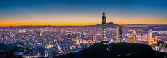 Panorama Night Scene 何處高樓見山闊 (Sharleen Chao) Tags: taipei101 skyline landscape skyscraper 台北101 台灣 風景 拇指山 cityscape city canon canoneos5dmarkiii building 101 urban outdoor horizontal nopeople taiwan taipei capitalcity highangle color tone 象山隧道 觀音山 sunset night sunny rays 霞光 夕陽 夜景 四獸山步道 70200mm summer panorama 全景