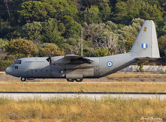 Hellenic Air Force C-130H 752 (birrlad) Tags: rhodes rho international airport greece aircraft aviation airplane airplanes military lockheed c130 c130h hercules turboprops prop hellenic 752 airforce greek taxi taxiway takeoff departing departure runway