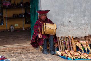 El Inca y su Tambor, Chinchero Cusco, Perú