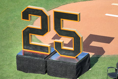 Bonds' Number Retirement (evie22) Tags: bonds sf giants barrybondsnumberretired