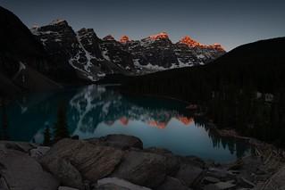 June Sunrise at Moraine Lake, Banff National Park, Alberta Canada