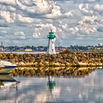 Prescott Ontario - Canada -  Sandra S Lawn Harbour  and Marina - Reflection - Light House thumbnail
