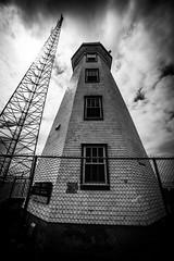 North Cape Lighthouse, PEI (Chilanga Cement) Tags: nikon nik bw blackandwhite monochrome princeedwardisland lighthouse sky canada coast coastline sea clouds cloud cloudy nikond810