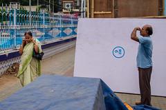 Closed (SaumalyaGhosh.com) Tags: yoga morning people walk exercise kolkata india street streetphotography color