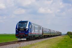 Carbondale Bound (MikeArmstrong) Tags: amtrak midwest train new sc44 charger saluki illini champaign illinois urbana carbondale farm