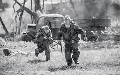 Russian soldiers (GrandJr) Tags: grandjr nikon d3 28 war ww2 rifle soldier run dust ed europe telephoto dof portrait fx grain violence ngc südwind outdoor monochrome blackandwhite 70200