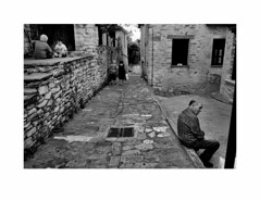 (Perilouc) Tags: street village pelion monochrome bw blackwhite greece