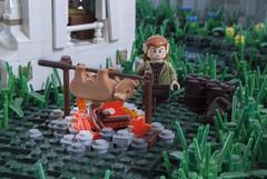 Eat up! (Ben Cossy) Tags: pork lego pig cooking cook elf medieval fantasy moc afol tfol castle