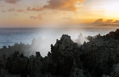More blowholes (dmunro100) Tags: sea blowhole dusk sunset christmasisland indianocean