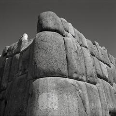 Inca Stonework, Sacsayhuaman, Cusco, Peru (austin granger) Tags: inca stonework stones sacsayhuaman cusco peru blocks citadel fortress evidence weight ruins time square film gf670 walls trix