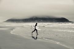 Surf no frio e vento em Floripa (Dedé Dwight) Tags: pb frio névoa praiadosantinho florianópolis surf