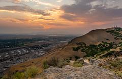 Ensign Peak Sunset (Rob Pitt) Tags: salt lake city utah ensign peak a7rii landscape sunset people photo 1740 f4 canon sony