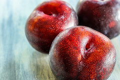 Yum!  It's Plums! (Totosma) Tags: plums fruit organic healthy purple fresh sweet three food