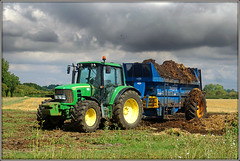Full of $h!te! (Jason 87030) Tags: farm tractor johndeere shit crap manure much spreading light weather grounds land farming smell stink stench foul poo wheels green trailer machinery vehicle agriculture only warwickshire outside outdoors