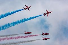Red Arrows; Falmouth Week, Cornwall (doublejeopardy) Tags: jet redarrows perform falmouth cornwall aircraft england unitedkingdom gb