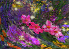 Fireflies (brillianthues) Tags: night fireflies flowers floral garden nature colorful collage photography photmanuplation photoshop