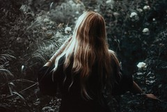 The hollowing pain (.everlasting) Tags: hair back nature dreamy film grain 35mm pain hollow analogue melancholia garden roses sensitive everlasting feverdreams hadararielmagar