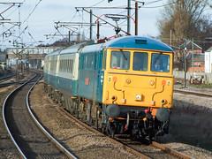 86101 Retford (deltic17) Tags: class86 86101 ac electric electriclocomotive ecml eastcoastmainline eastcoast br britishrail brblue train passenger heritage retford