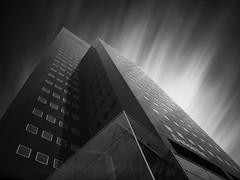 Deloitte-Tower Study2 (Thunderbird61) Tags: deloitte deloittetower leeuwarden netherland architecture architektur skysraper le pentax pentax645z mediumformat pentaxart lookup mono monochrome monochromatic schwarzweis blackwhite zwartwit noirblanc neroyblanco gebouw longexposure nb zw bw sw friesland culturalcapital2018 sundaylights