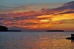 Sunset over Green Bay (stevelamb007) Tags: sunset wisconsin doorcounty ephraim greenbay stevelamb nikon d90 nikkor 50mmf18