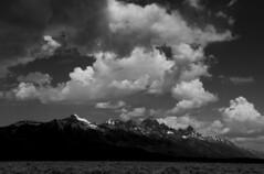 Shaded Tetons (JasonCameron) Tags: grand tetons national park wyoming black white monochrome cloud sky high contrast landscape