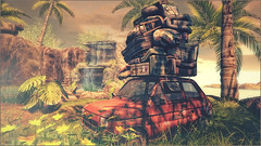 *There's no place like home* ❤️ (Ⓐⓝⓖⓔⓛ (Angeleyes Roxley)) Tags: home jungle drd car sl secondlife sim