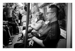 Passenger (fishyfish_arcade) Tags: 20mmf17 gx7 london lumix panasonic panasonic20mmf17asphlumixg streetphotography blackwhite bw monochrome mono londonunderground tube candid