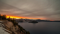 Cloudy sunset (Explored 15/8/2018) (Alex&HisNikon) Tags: craterlake nationalpark sunset clouds lake oregon